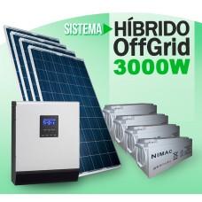 Sistema HIBRIDO 3000w 24v